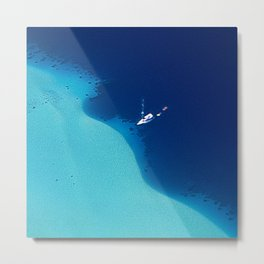 Blue Lagoon Abstract Metal Print