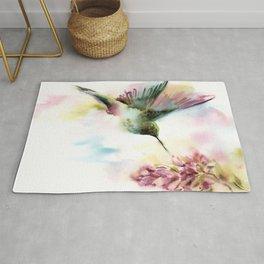 Colorful Little Hummingbird Rug