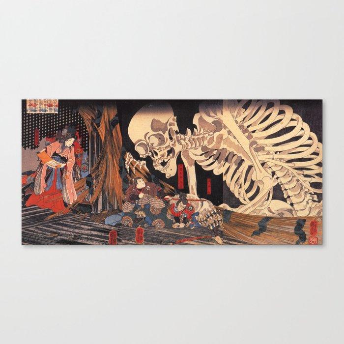Takiyasha the Witch and the Skeleton Spectre, by Utagawa Kuniyoshi Leinwanddruck