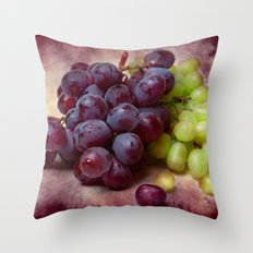 Grapes Red And Green Throw Pillow