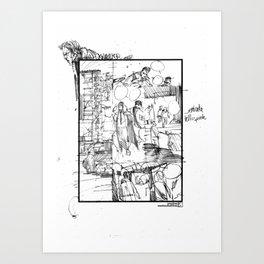 SKINWALKER STORYBOARD Art Print