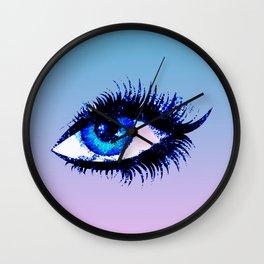 Digital Watercolor Female Eye Wall Clock