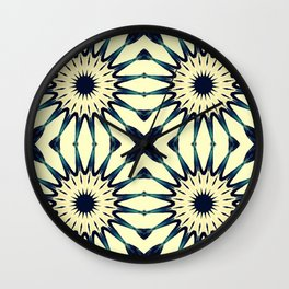 Tropical Paradise Flower Mandala Pattern Wall Clock