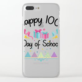 Happy 100 Days Of School For Teachers And Students Clear iPhone Case