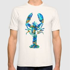 Blue Lobster Art by Sharon Cummings Mens Fitted Tee X-LARGE Natural