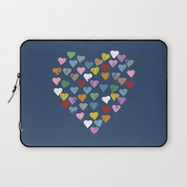 Distressed Hearts Heart Navy Laptop Sleeve