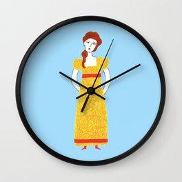 Girl in victorian dress Wall Clock
