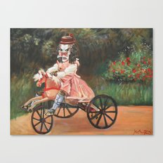 Predator On A Wooden Horse Canvas Print