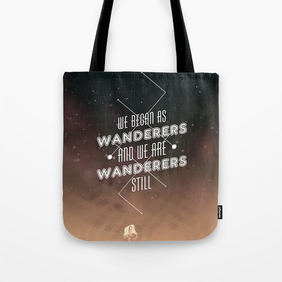 Wanderers - MSL/Curiosity Commemoration Print Tote Bag