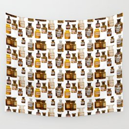 Vintage Chemistry Bottles Wall Tapestry