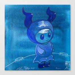 Moonkhin 4 (Iridum Indigo) Canvas Print