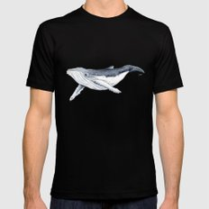 Baby humpback whale (Megaptera novaeangliae) Mens Fitted Tee LARGE Black