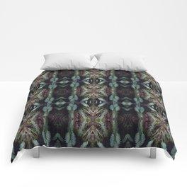 kaleidoscopic fern Comforters