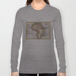 Vintage Map of Africa (1780)  Long Sleeve T-shirt