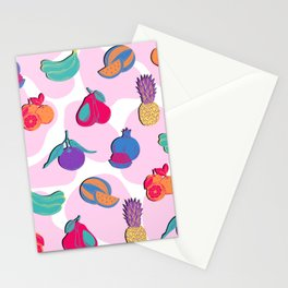 Abstract Pop Art Fruit Magnet Pattern Edit Stationery Cards