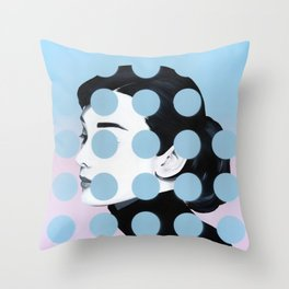 Audrey (Dots) by Famous When Dead Throw Pillow