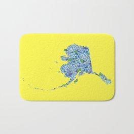 Alaska in Flowers Bath Mat