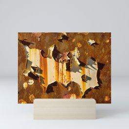 Paint on rust Mini Art Print