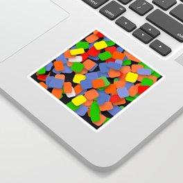 wild color pieces Sticker