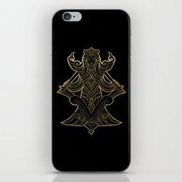 Virgo Gold iPhone Skin