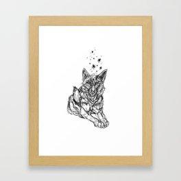 Star Wolf Framed Art Print