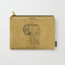 Toilet Paper Patent 1 Carry-All Pouch