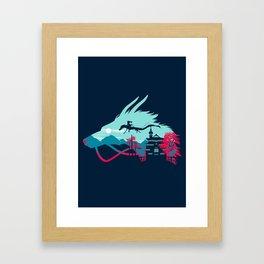 Traveling in Dragon Framed Art Print