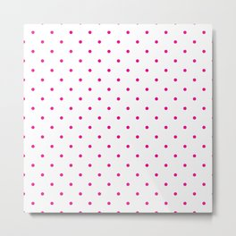 Small Pink Polka Dots Metal Print