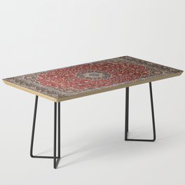 N63 - Red Heritage Oriental Traditional Moroccan Style Artwork Coffee Table