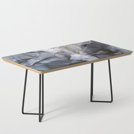 Calm but Dramatic Light Monochromatic Black & Grey Abstract Coffee Table