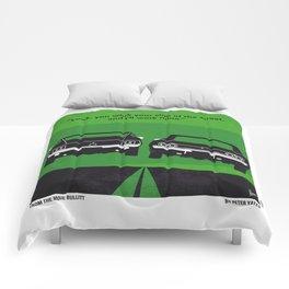 No214 My BULLITT minimal movie poster Comforters