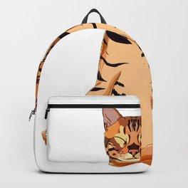 Yoga Bengal Cat  Backpack