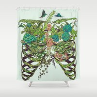 death Shower Curtains featuring Daydreamer by Huebucket