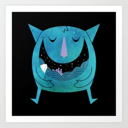 Swallowed By The Sea Art Print