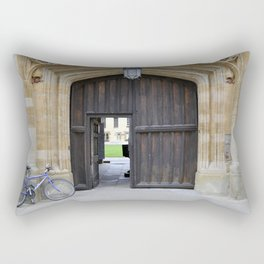 Oxford door 12 Magdalen College Rectangular Pillow