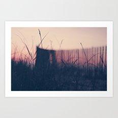 beach sunset II Art Print