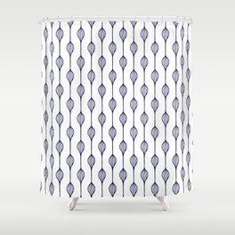 Garlands in Navy Blue Shower Curtain