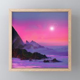 Resting from Reality Framed Mini Art Print