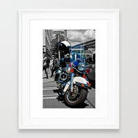 police Framed Art Prints featuring Police by Pixel Villain