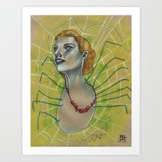 SPIDER WITH NECKLACE Art Print