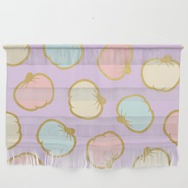 Pastel Pumpkin Pattern with Gold Wall Hanging