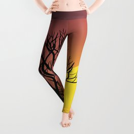 Creepy Sunset Leggings