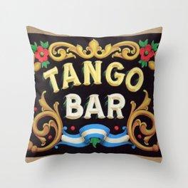 Tango Bar Throw Pillow