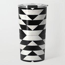 Urban Tribal Pattern No.14 - Aztec - Black Concrete Travel Mug