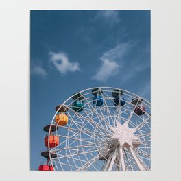Colourful Ferry Wheel Poster