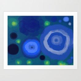 Rocks or Water - Fireflies 3 Art Print
