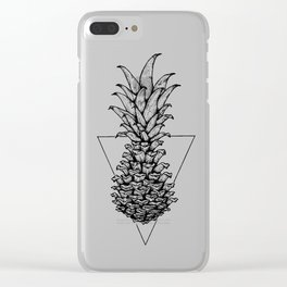 Pine-pineapple-cone Clear iPhone Case