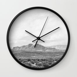ARIZONA IV (B+W) Wall Clock
