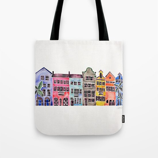 Rainbow Row – Charleston Tote Bag