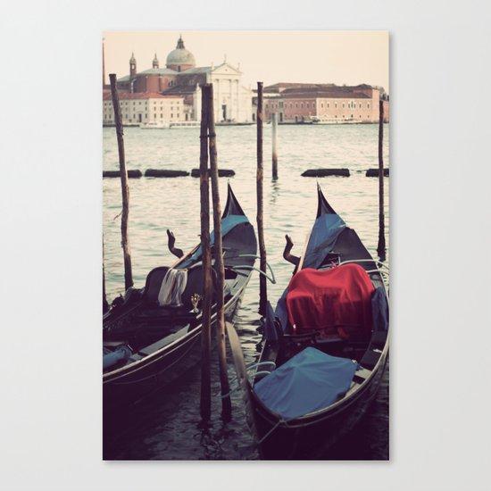 Italian Boat Dock Canvas Print